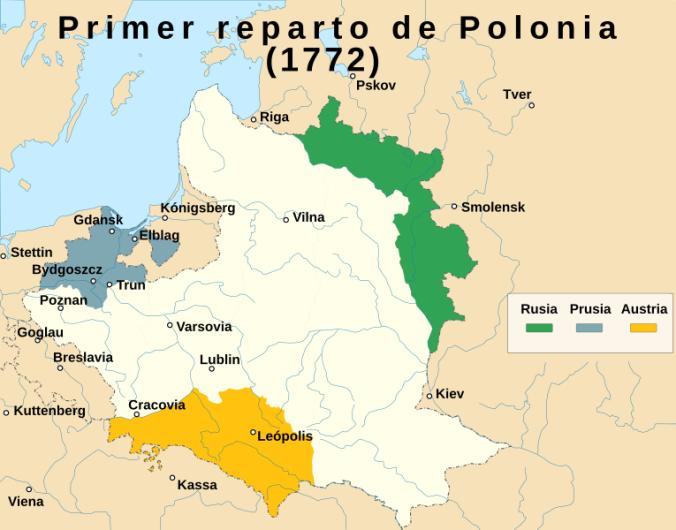 Primer reparto de Polonia